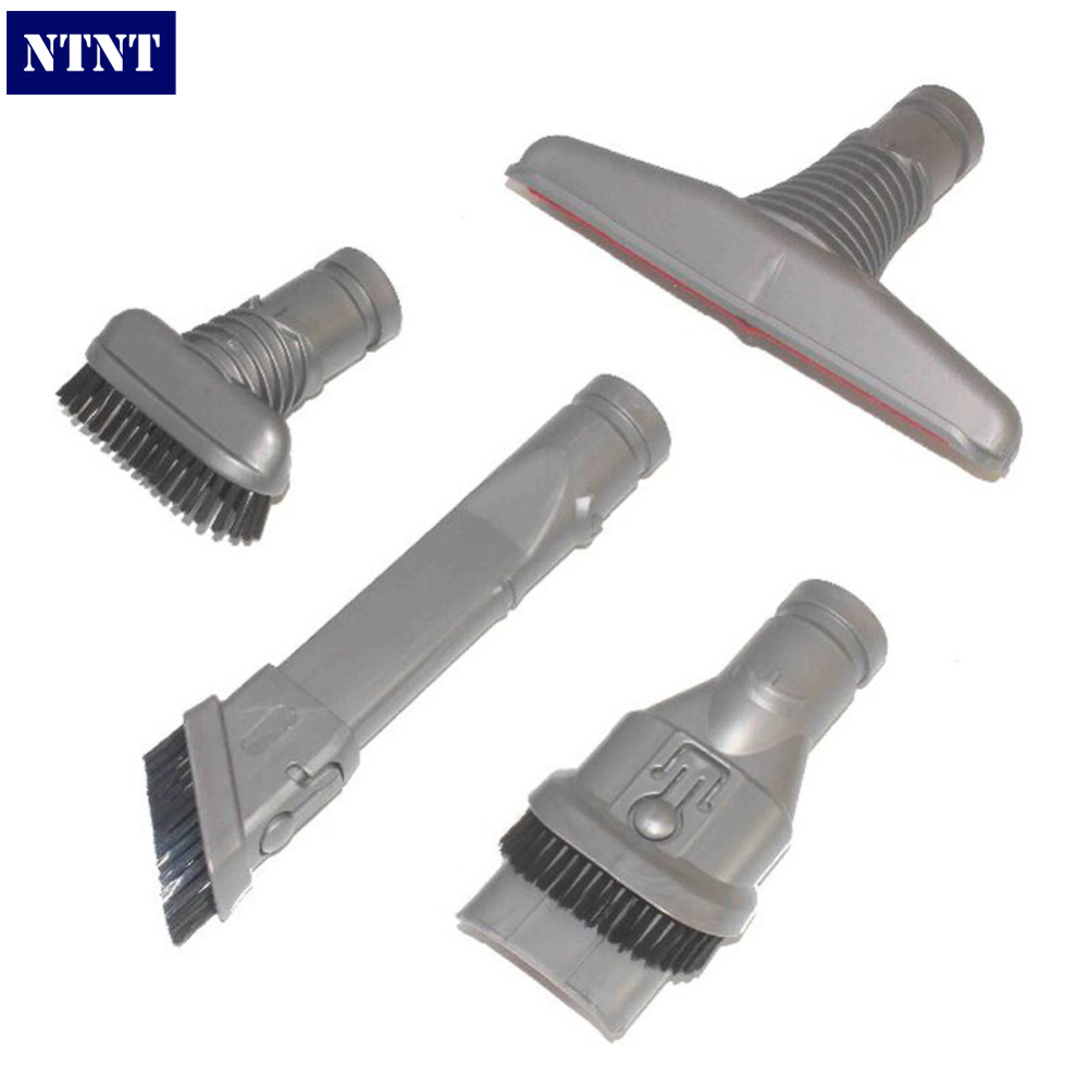 NTNT 4Pcs Handheld Tool Attachment Kit &amp;Crevice tool &amp;Combination tool &amp;Bristle brush For DYSON DC45 DC58 DC59 DC62 V6 DC08 DC48<br><br>Aliexpress