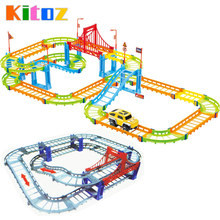 Kitoz Magical Slot Car Colorful Buildable Assembly Mini DIY Race Track Court Racetrack Auto Toy Boy Children Not Glow With Car