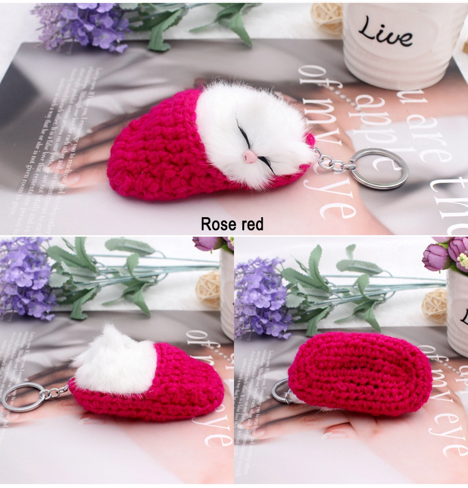 sleeping cat keychain 1