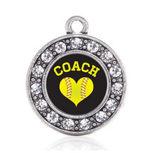 SOFTBALL COACH CIRCLE CHARM