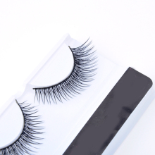 1Pair 3D Natural Bushy Cross False Eyelashes Mink Hair Handmade Eye Lashes Strengthen The Eyelash