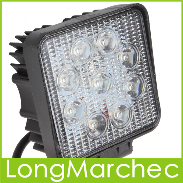 1800LM 27W High Power 9X 3W Bead LEDs Square Offroad Car LED Work Light Lamp<br><br>Aliexpress