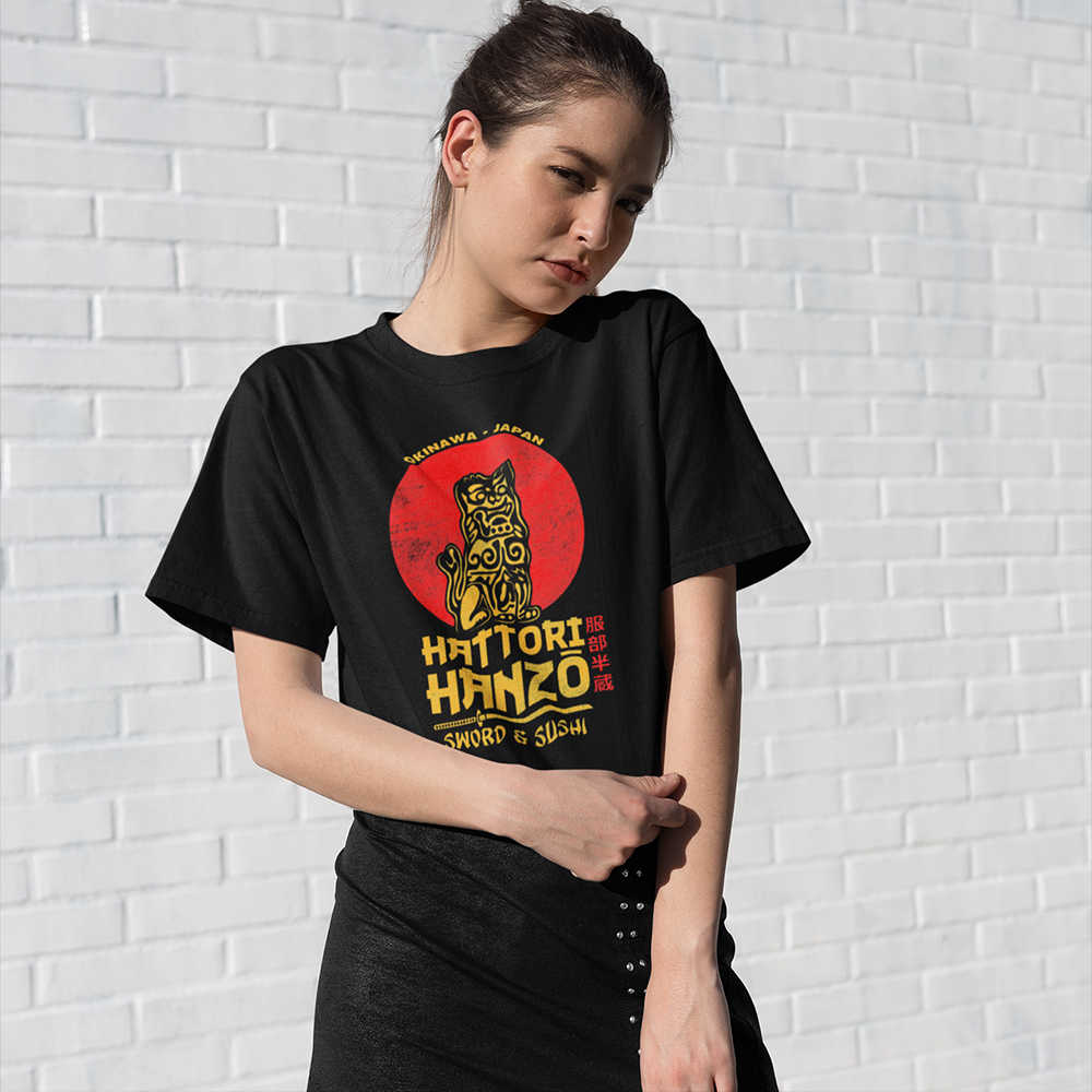 HATTORI HANZO LADIES T SHIRT COOL KILL INSPIRED DESIGN RETRO CULT MOVIE TOP
