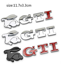 2017 New VW Rabbit GTI 3D Metal Car Auto Trunk Emblem Sticker for Volkswagen VW Polo VW Golf 4 T5 Golf 5 Golf 6 Car Styling