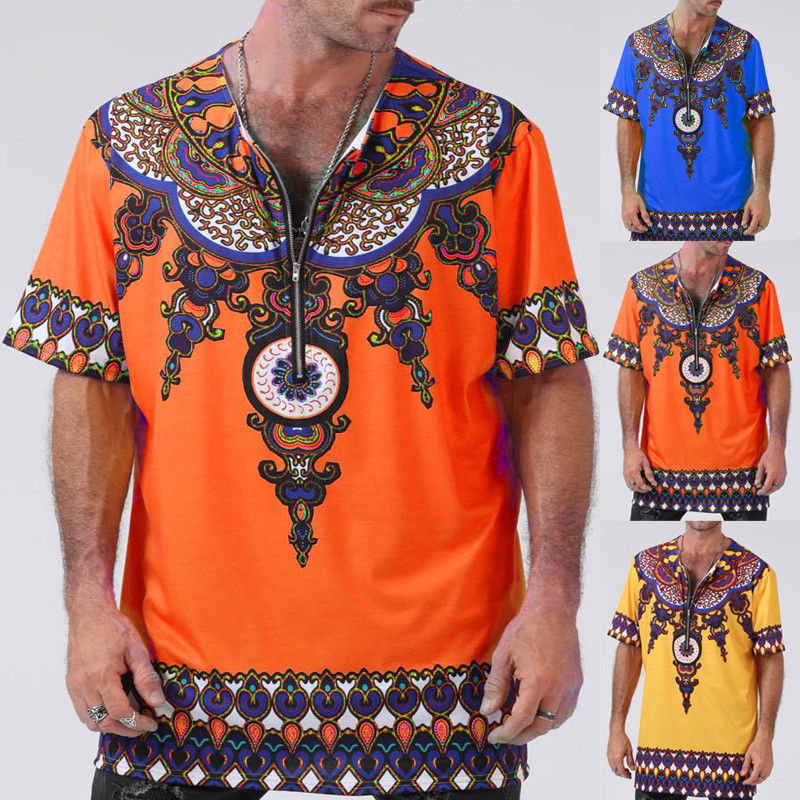 3D Printed T-Shirts Tribal Ethnic in The Art Style Short Sleeve Tops Tees