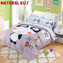Panada cartoon Cotton Home Queen/full size 4pcs Children Bedroom Bedding sets Duvet cover Quilt Bedding Bed sheet Pillowcase