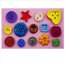 Button Shaped Christmas Wedding Decoration Silicone Mold Fondant Sugar Cooking Cake Decoration Tools JD1113