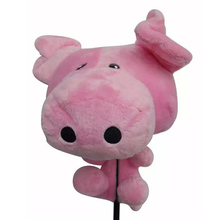 2016 NEW golf Club Covers Animal wood Golf HeadCover Golf Animal Driver Headcover Club Set Covers quality plush lovery pink pig