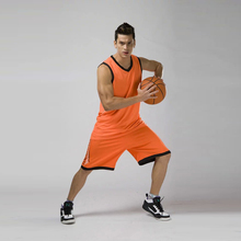 Quick dry men's cheap basketball training jersey sets blank sports youth college basketball jerseys suits breathable uniforms XL(China)
