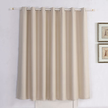 Room Darkening Thermal Insulated Blackout Grommet Window Curtain Panel for Living Room, 52Wx 63L inch Beige, One Panel