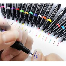 Pro 16 Pcs Color Nail Art Pen Painting Design Tool Drawing for UV Gel Polish Set
