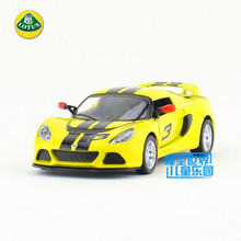 Free Shipping/1:32 Scale/2012 Lotus Exige S With printing/Classical Educational Model/Pull back Diecast Metal toy car/Collection