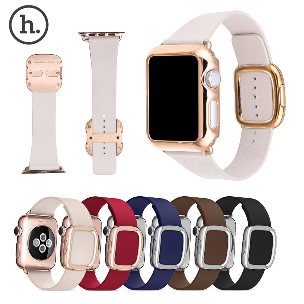 Original HOCO Modern Magnetic Buckle Strap for Apple Watch Genuine Leather Band Bracelet Case for iWatch 1st 42mm 38mm Cover<br><br>Aliexpress