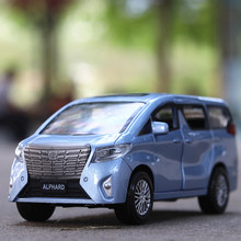 New 1:32 Toy Car Toyota Alphard Metal Alloy Diecast Car Model Miniature Scale Model Sound and Light Model Car Toys For Children