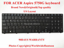 100% Brand New Original laptop keyboard for ACER Aspire 5750 5750G Keyboard US Layout 90Days Warranty Free shipping