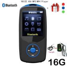 2017 New Original RUIZU X06 Bluetooth mp4 player 16GB 100hours high quality lossless Recorder Walkman FM Radio Video Player