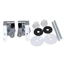 BQLZR Chrome Pair Replacement Toilet Seat Hinge Toilet Mountings Accessories(China)