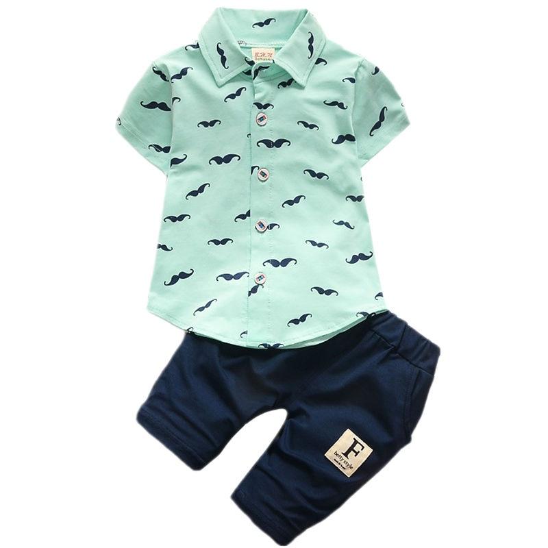 Baby Boys Clothing Set Toddler Cotton Kids Clothes 2017 Summer Casual Children Suit T-shirt+Pants 2Pcs Boy Gentleman Suit<br><br>Aliexpress