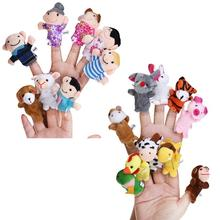 18pcs Educational Toys Finger Puppets Story Time Finger Puppets 12 Animals & 6 People Family Party Play House Accessories