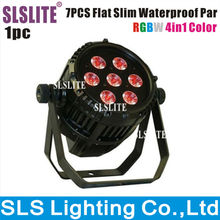 7pcs 4-in-1RGBW outdoor 4IN1 par light led stage light  stage lighting outdoor led par can 10w,rgbw dmx512 led par 64 light