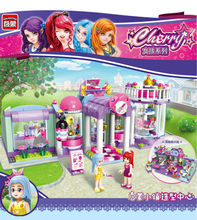 New Low Price Enlighten Girl Series Shirley's Beauty SPA Shop 2006 Building Block Assemble DIY Action Figures Brick Kid Toy Gift
