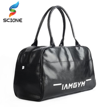 2017 Top Quality PU Leather Men's Sports Bags Gym Bags Classic Sports HandBag Fitness Travel Bags Outdoor Training Luggage Bag(China)