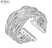 2014 Hot sell Chrismas gift Wholesale silver plated ring fashion jewelry,Small reticulocyte ring SMTR023