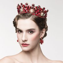 Bride Jing Wan Heart Europe and the United States Baroque Bride Headdress Crown Wedding Crown Hair Ornaments Wedding Jewelry