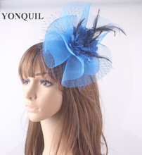 Nice feather fascinator hair accessories bridal headpieces party hats wedding hair accessories G02