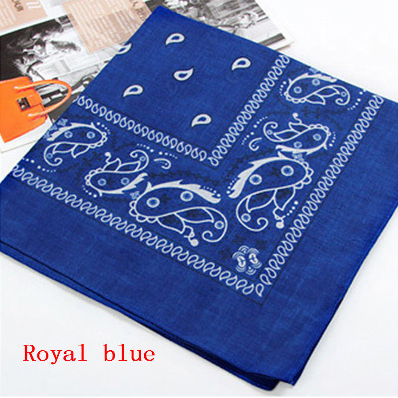 Unisex Square scarf Hip Hop Black Paisley Bandana Headwear hand kerchief Hair Band Scarf Neck Wrist Wrap Band Headtie Gift 2018