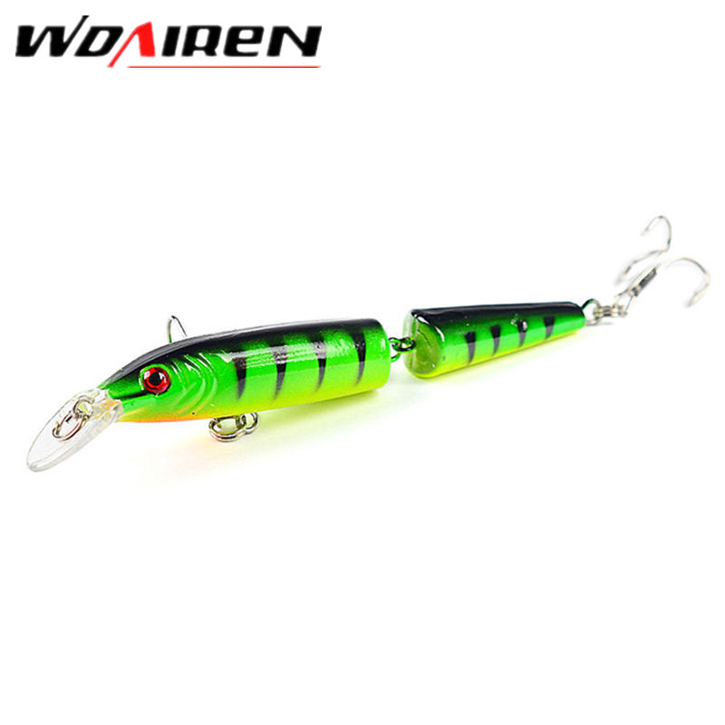 1Pcs 10.5cm 9.6g Fishing Minnow 2 Sections Lure swim bait jointed Artificial Bait Treble Hooks Crankbait Fishing Tackle YR-270(China)