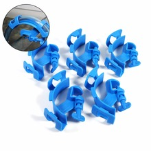 5Pcs Blue Fish Aquarium Filtration Water Pipe Fish Tank Filter Hose Holder For Mount Tube Tank Accessories(China)
