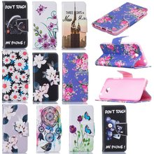 Leather Pattern Flip Cases for Huawei Y5II Cover Wallet Phone Case for Huawei Y5 II Y5 ll 2 Etui Tower Flower Skeleton Capinhas