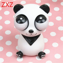 ZXZ 2017 Hot Squeeze Pop Out Eyes Doll Antistress Cartoon Animal Stress Relief Panda Model Decompression toy Shocking Prank Gift(China)