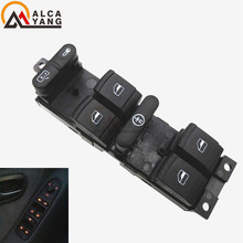 Malcayang Power Window Switch for VW Beetle Passat B5 Golf 4 Jetta MK4 for Seat Leon for Skoda Superb 1J4959857B