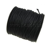 YYW New Accessories Findings Cord Thread Gifts DIY Cotton Wax Cord Black Color 1.5mm/2mm 80yards Making for Bracelet