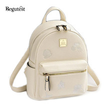 2017 Spring Summer Fashion School Bag Backpack Female Leather PU Stylish Backpack For Girls Waterproof Bagpack For School