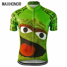 men cycling jersey pro team ciclismo ropa green mtb bike jersey cycling clothing cartoon funny jersey cycling top(China)