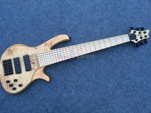 TOP QUALITY 6 strings  bass guitar  with Maple Fretboard Best workmanship  Free shipping(Custom logo and inlay could be removed)
