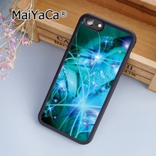 MaiYaCa Turquoise Mandala x Lace Wood Beautiful Soft Rubber cell phone Case Cover for iPhone 5 5S SE phone cover shell(China)