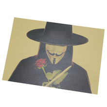 V For Vendetta / B Models / Classic Poster / Kraft Paper Poster Painting Core 51x35.5cm