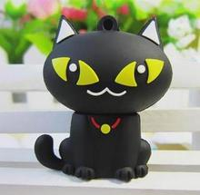 black cat usb flash drives thumb pendrive u disk usb flash drive creativo memory stick 4gb/8gb/16gb/32gb/64gb S32(China)