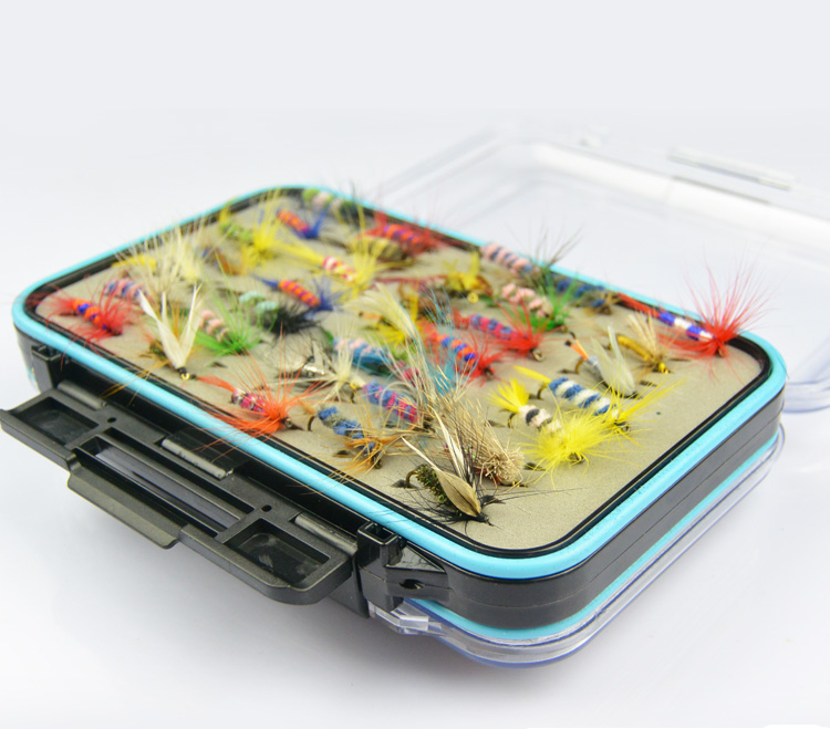Anmuka Hot Selling 64pcs/set Various Dry Fly Hooks Fishing Trout Salmon Dry Flies Fish Hook Lures<br><br>Aliexpress