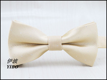 new fashion style men's bow tie//white shiny dot design/boys leisure formal clothes champagne color bowknot