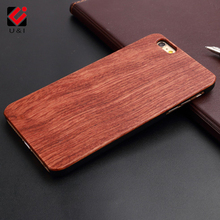 U&I Hot New Natural Dirt-resistant Back Wood Phone cases Hand Manual Carving Shell For Iphone 5 5s 6 6s 6plus 6splus 7 7plus(China)