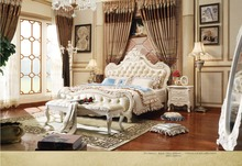 hot sale solid wood 1.8/2M bedroom set from PROCARE furniture(China)