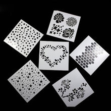 Free Shipping Stencil Painting Template Stamps DIY Scrapbooking Photo Album Cards Decorative Embossing Cake Fondant Cupcake tool