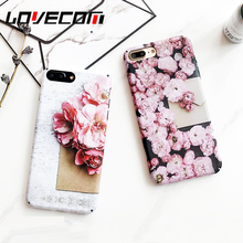LOVECOM Flowers Ocean Phone Case For iPhone 6 6S 7 Plus Fashion Matte Full Body Phone Back Cover Cases Best Gift For Lover(China)