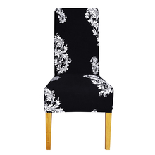 Printing flower long back size Chair Cover checked patterns Chair Covers seat cover Hotel Party Banquet housse de chaise decor
