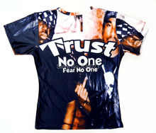"2015 Latest styles high quality Short Sleeve star Print T shirt Fashion Men/Women ""trust no one"" 2PAC Print 3D t shirt"
